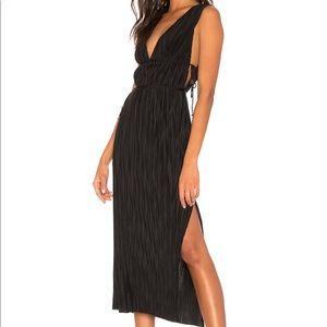 Kiara Midi Dress-Black